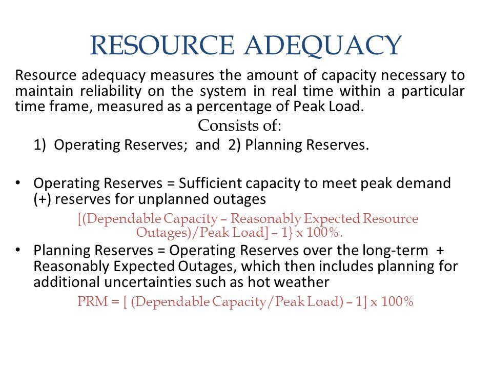PRM = [ (Dependable Capacity/Peak Load) – 1] x 100%